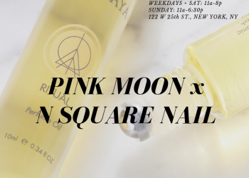 pink moon x n square pop-up
