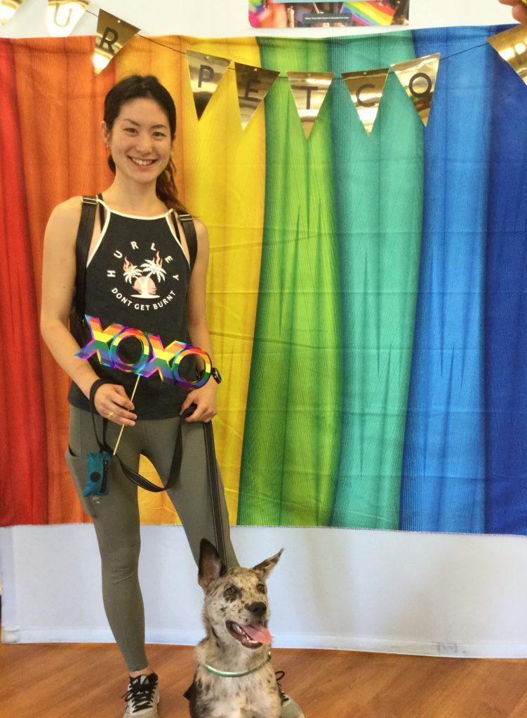 Martha with puppy